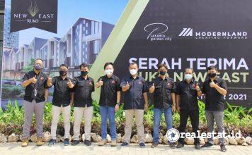 Serah Terima Ruko Shophouse New East di Jakarta Garden City realestat.id dok